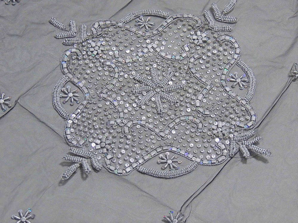 Luxury Floral Beaded Tablecloth India Handcrafted Elegant Designer