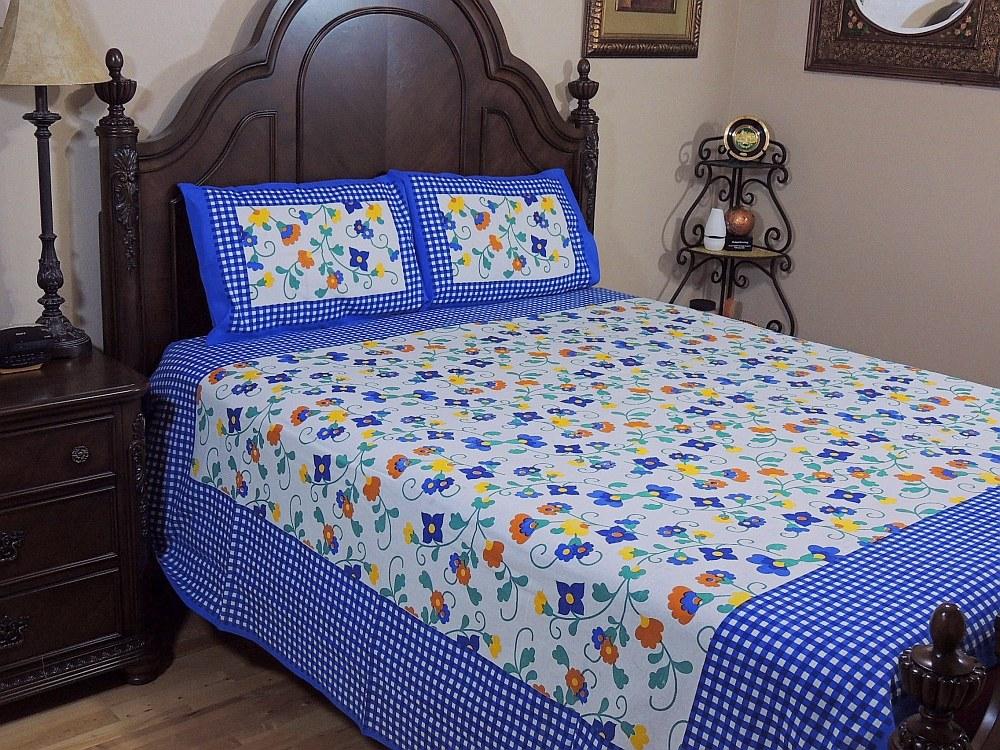 Jaipur Indian Bedding Sheet Print Cotton Pillowcases 3p