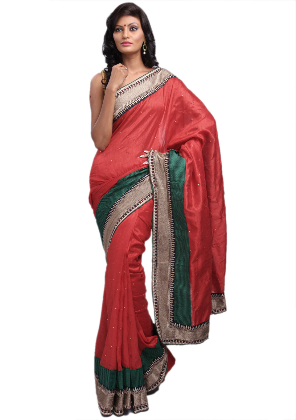 Designer Indian Fashion Saree Bhagalpuri Silk Ethnic Wear