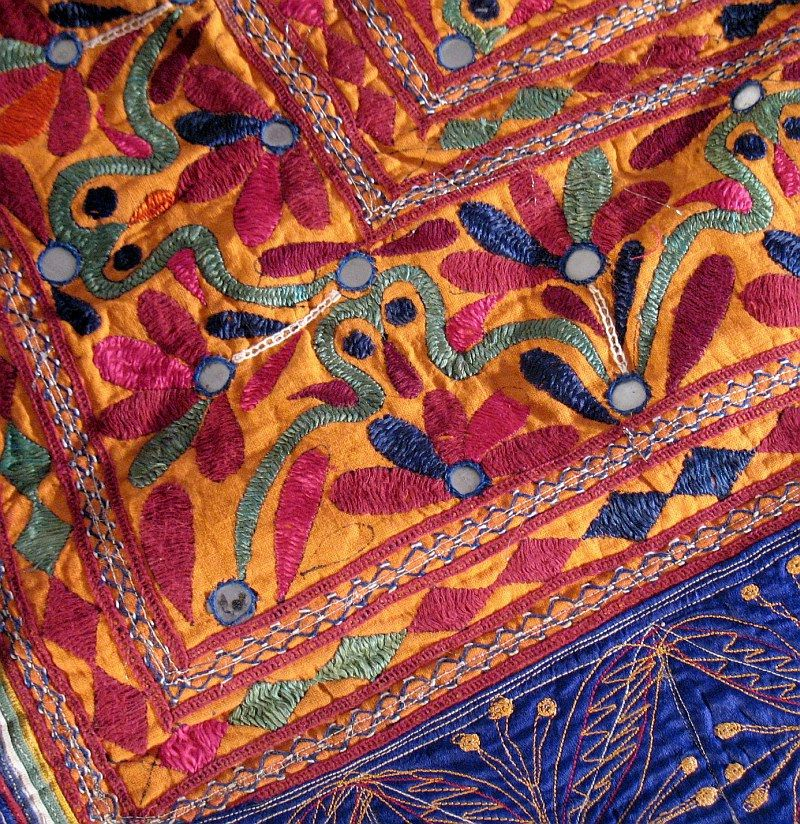 Banjara Rare Mirror Kutch Indian Wall Hanging Tapestry Ebay