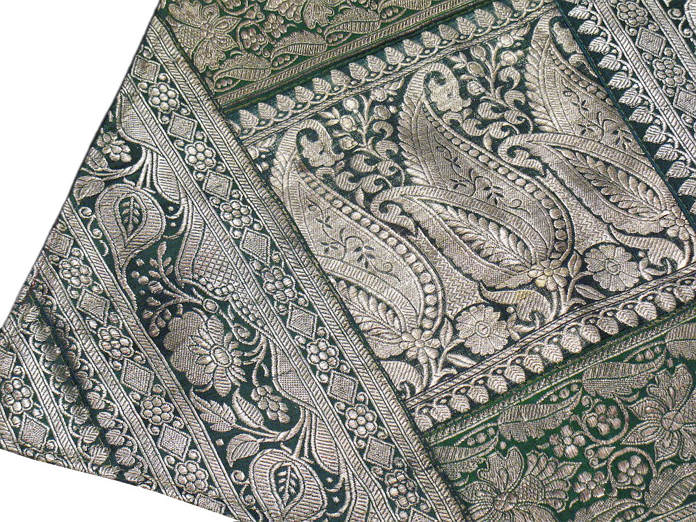 Sari Decorator Ethnic Pillows 2 Vintage Brocade India
