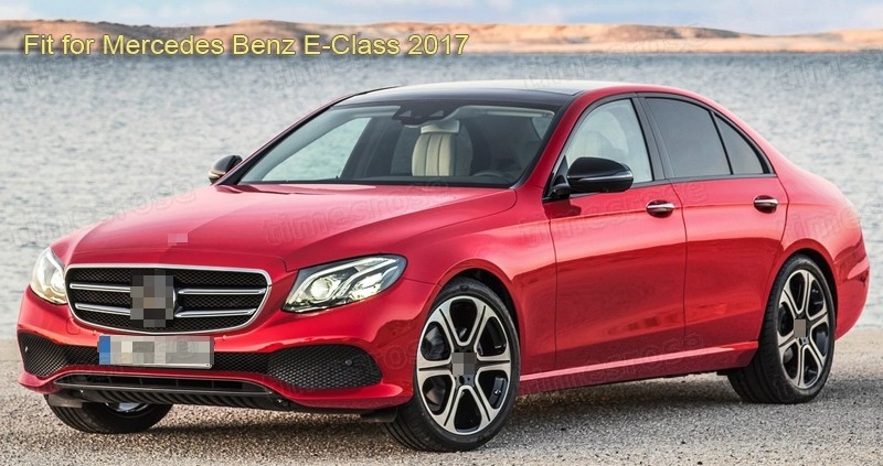 5pcs Chrome Outer Side Car Door Handle Cover Trim for 2017 Mercedes Benz E-Class