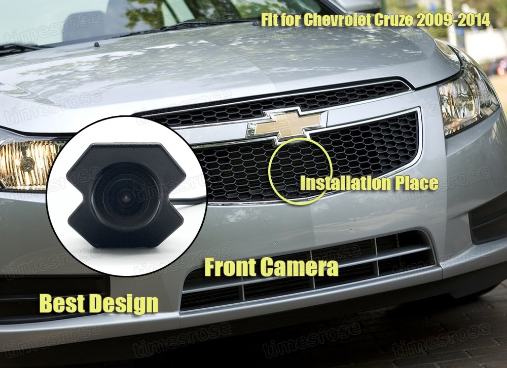 170° Full HD CCD Car Grill Front View Camera Embedded for Chevy Cruze 2009-2014