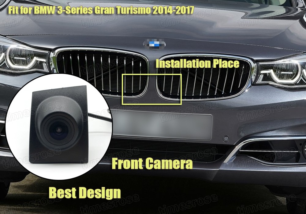 Car Front View Camera Grill Embedded Ccd 170 Hd For Bmw 3 Series Gt