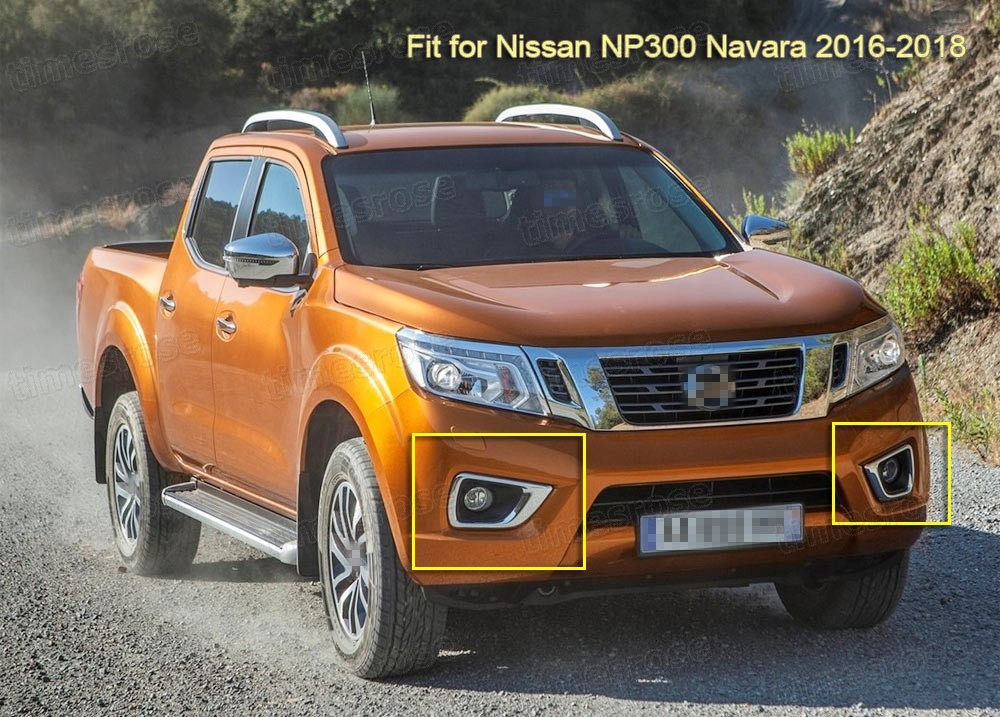 Bumper Fog Lights Lamps Cover Switch Set For Nissan Np300 Navara