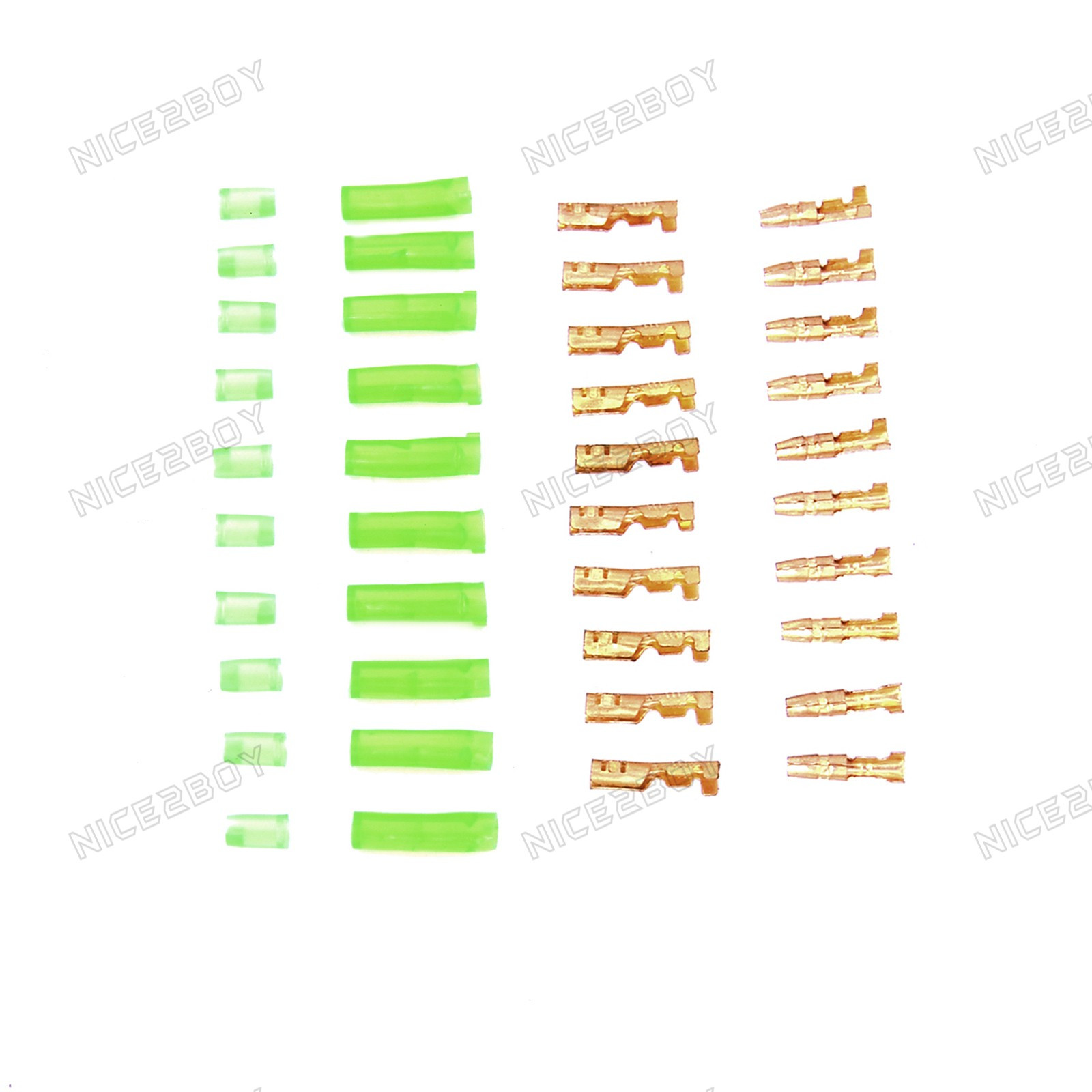 10 X 39mm Motorcycle Electrical Wiring Harness Loom Brass Bullet Clipart Connectors