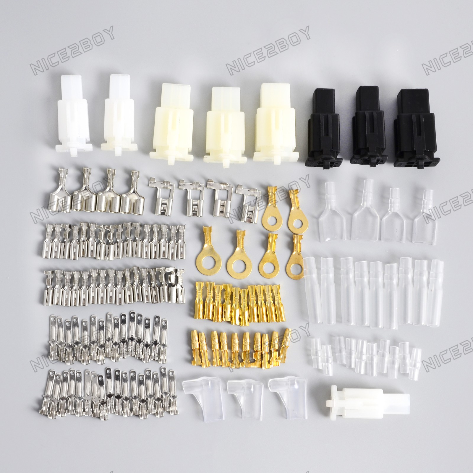 details about motorcycle auto wiring harness loom brass bullet connectors terminal repair kit  auto wiring harness connectors kit #5