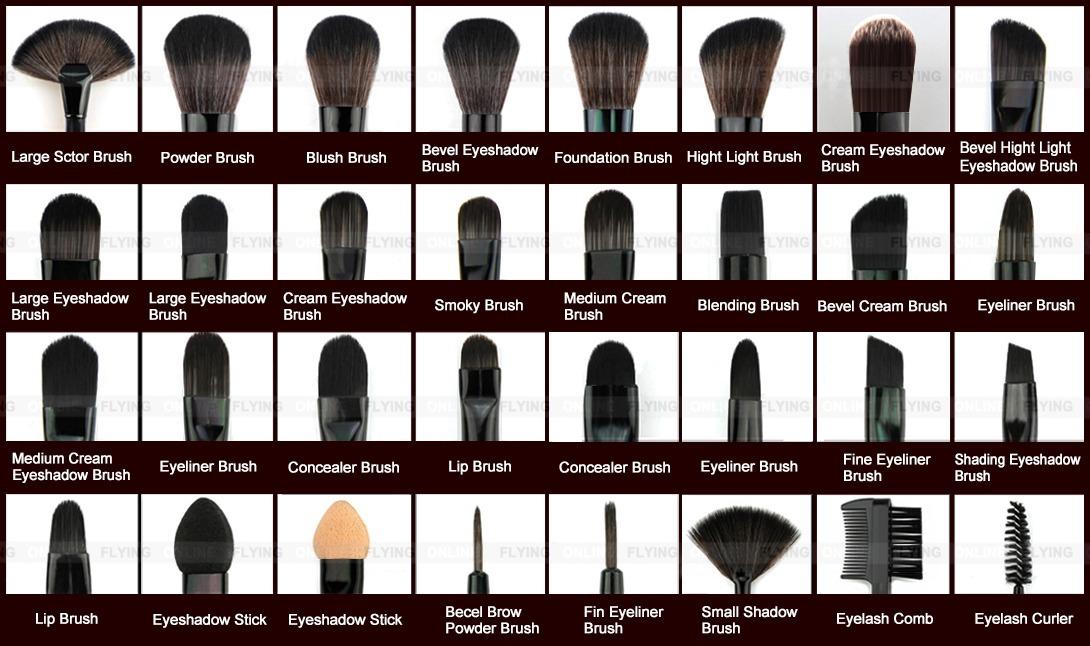 Details about Vander 32pcs Professional Soft Cosmetic Eyebrow Shadow Makeup  Brush Set Kit Case