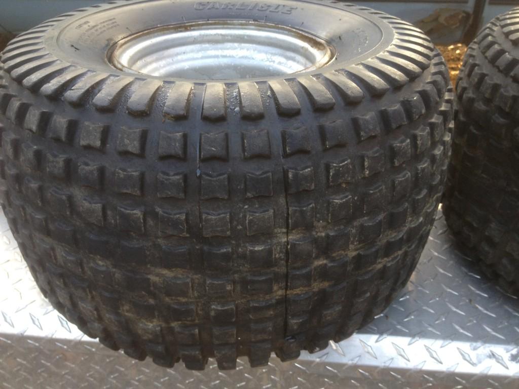 ATC Honda 200M 200E 200ES Pair Rear Rims Wheels Tires Carlisle 25 x 12