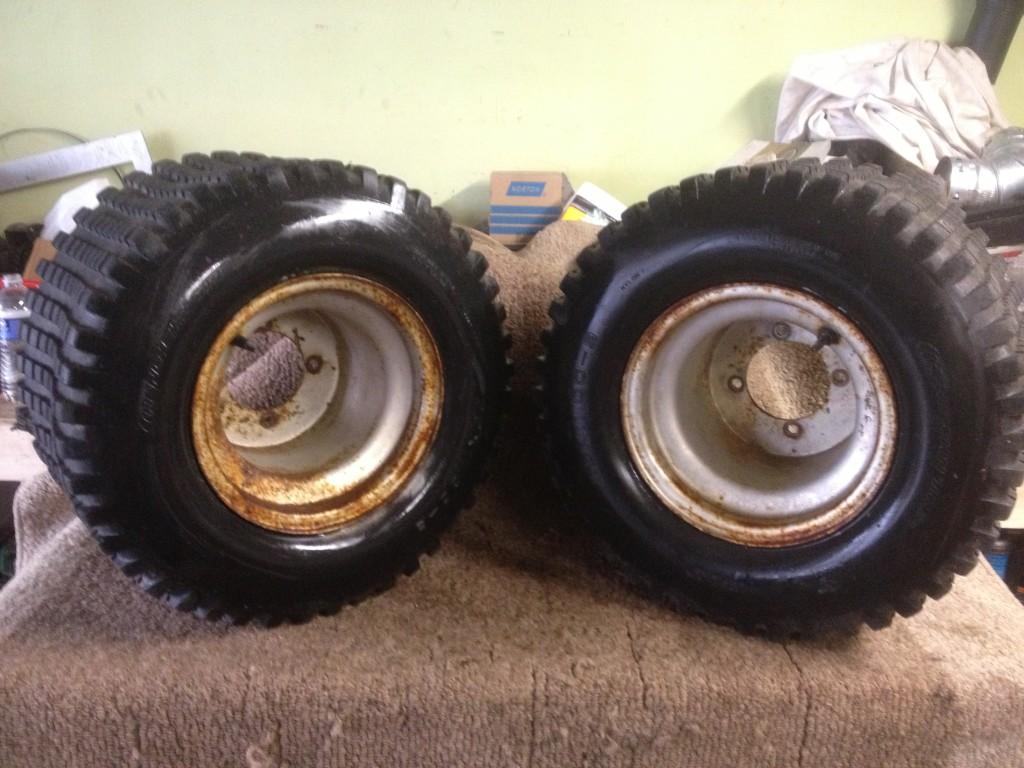 200x ATC 200 x Pair ITP Rear Wheels Rims Tires See Description