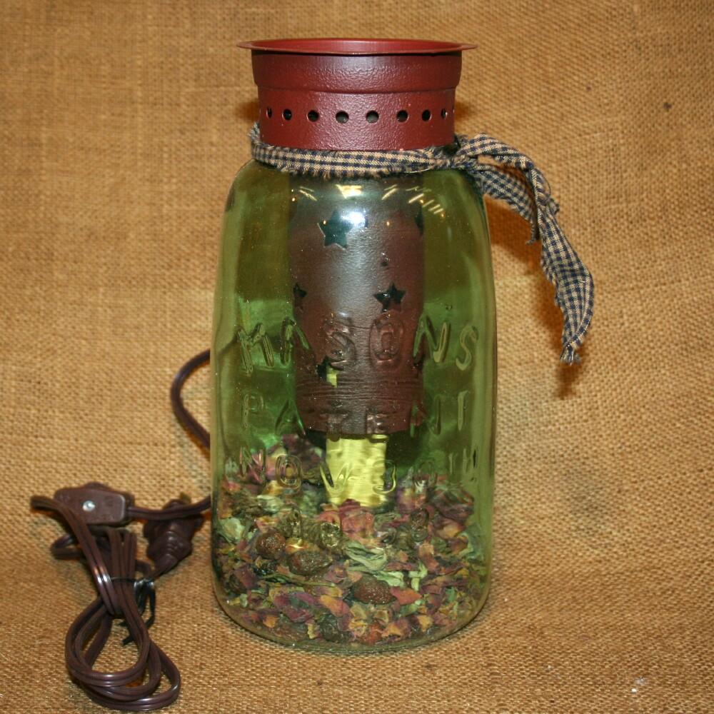 Half Gallon Mason Jar Tart Oil Warmer Electric Burner