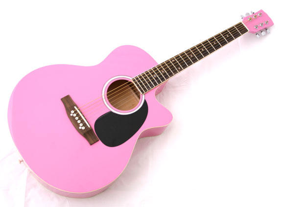 new crescent pro ymg 41 adult size pink acoustic guitar accessories ebay. Black Bedroom Furniture Sets. Home Design Ideas