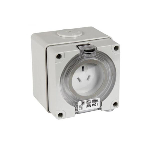 10a Waterproof Single Power Point Socket Electrical