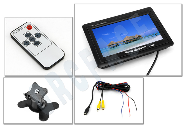 7 Quot Inch Pillow Tft Lcd Color Monitor For Car Camera Ebay
