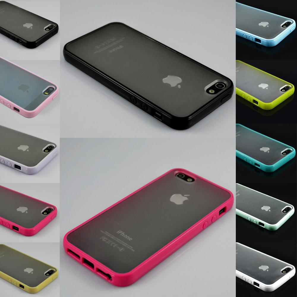 TPU Bumper Frame Matte Clear Hard Back Skin Case Cover for iPhone 5 5S SE + Film | eBay  Iphone