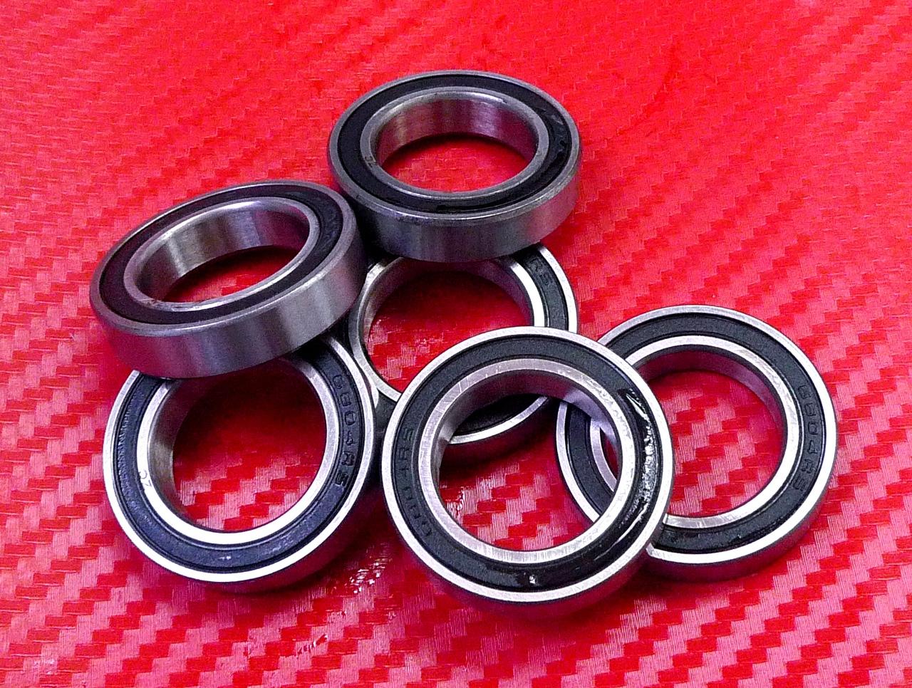 10pcs Rubber Sealed Ball Bearing Bearings Black 6803-2RS 6803 RS 17x26x5 mm