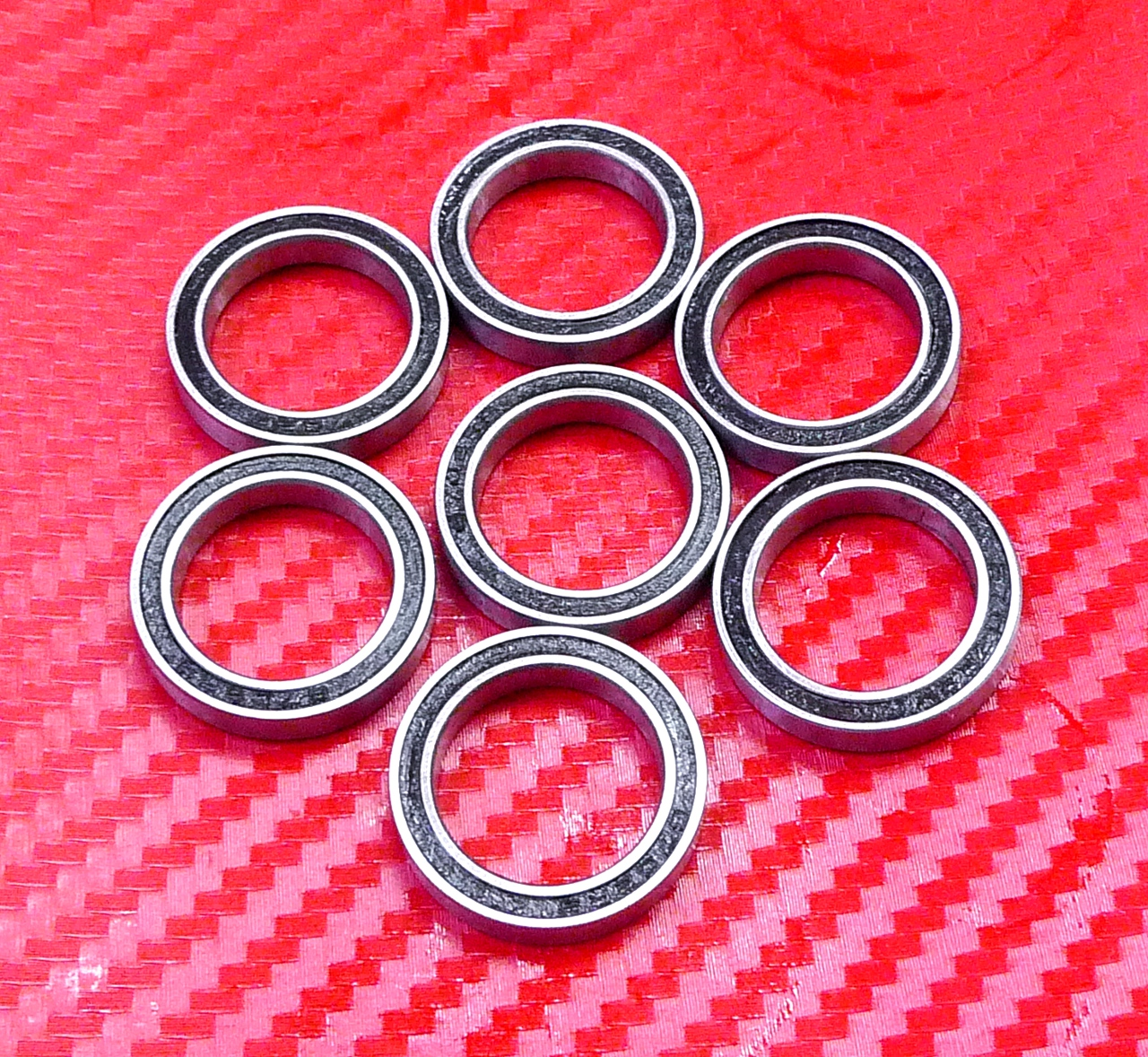 Orange 10 Pcs Rubber Double Sealed Ball Bearing 695RS 695-2RS 5x13x4 mm