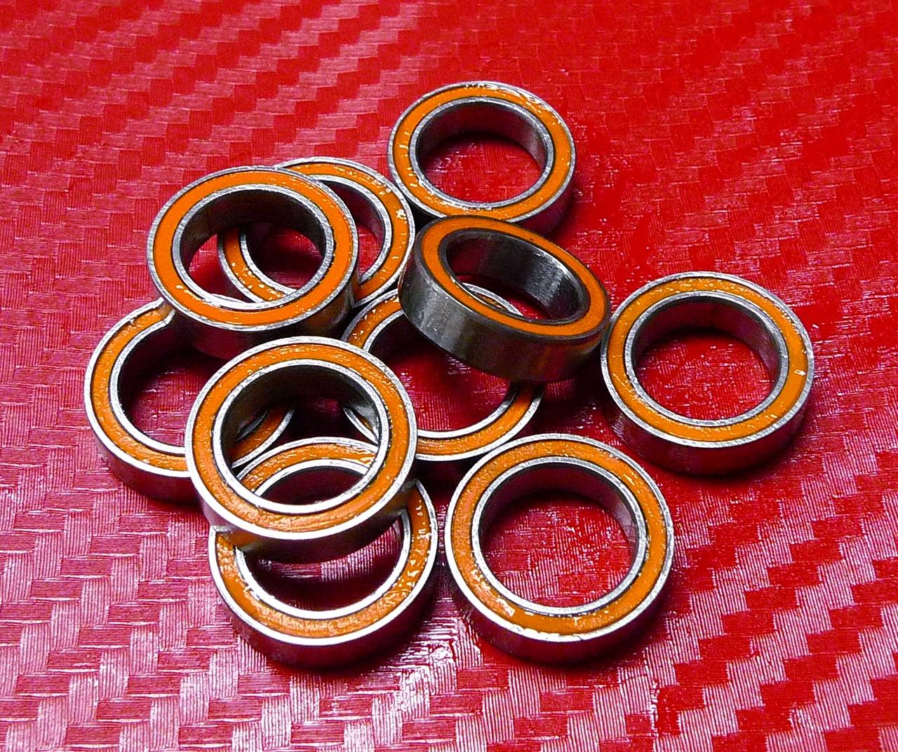 S6700-2RS CERAMIC 440c S.Steel Ball Bearing 6700RS ABEC-7 10x15x4 mm QTY 4