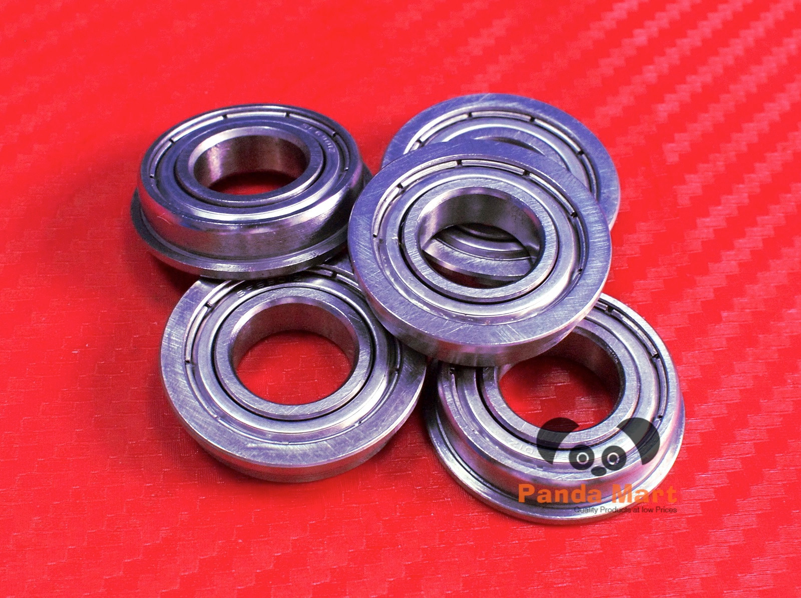 5 PCS 440c Stainless Steel FLANGE Metal Ball Bearing SF696zz F696zz 6x15x5 mm
