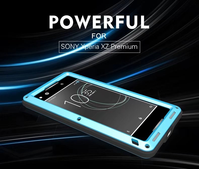 online store 29280 2c5a3 For Sony XPERIA XZ PREMIUM Shockproof Waterproof Gorilla Glass ...