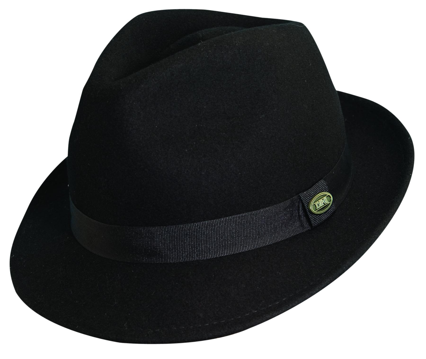 73ad552ff4c New DPC Mens Fedora Trilby Hat Black Wool Felt Size M L XL XXL 2X Snap