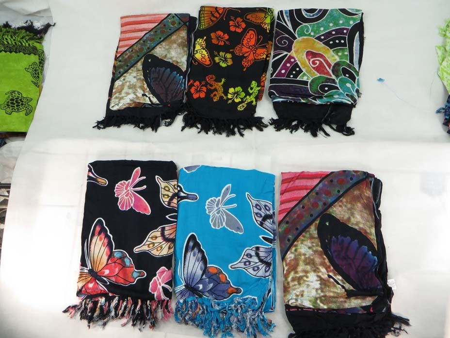 *US SELLER*Lot of 10 wholesale butterfly sarong pareos beach shawl wrap stole...