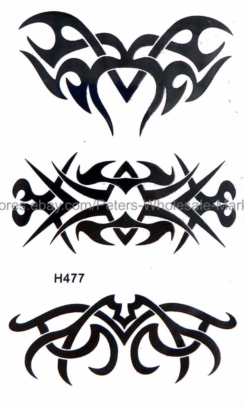 Details about us seller tattoo stickers waterproof tribal tramp stamp temporary tattoo