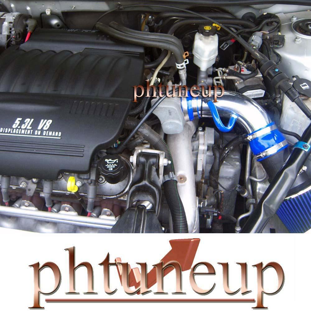 BLACK BLUE 2004-2008 PONTIAC GRAND PRIX GT1//2 GTP GXP 3.8L 5.3L AIR INTAKE 3.5