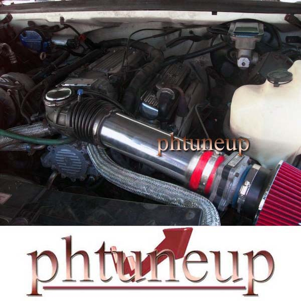 RED DUAL AIR INTAKE KIT fit for 1994-1996 CHEVY IMPALA SS CAPRICE 4.3L 5.7L V8