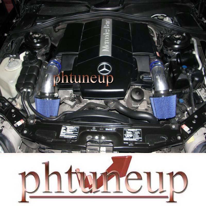 BLUE AIR INTAKE KIT FOR 1997-2002 MERCEDES BENZ E320 E420 E430