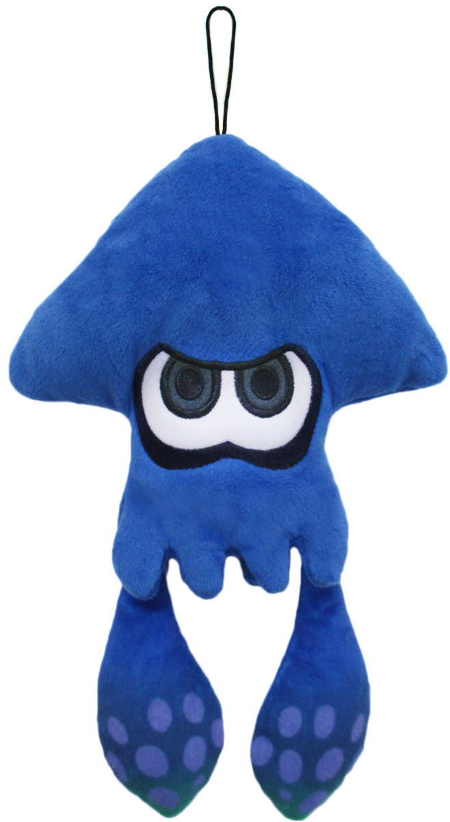 New Little Buddy Splatoon Plush Series (1435) Dark Blue Inkling Squid Plush