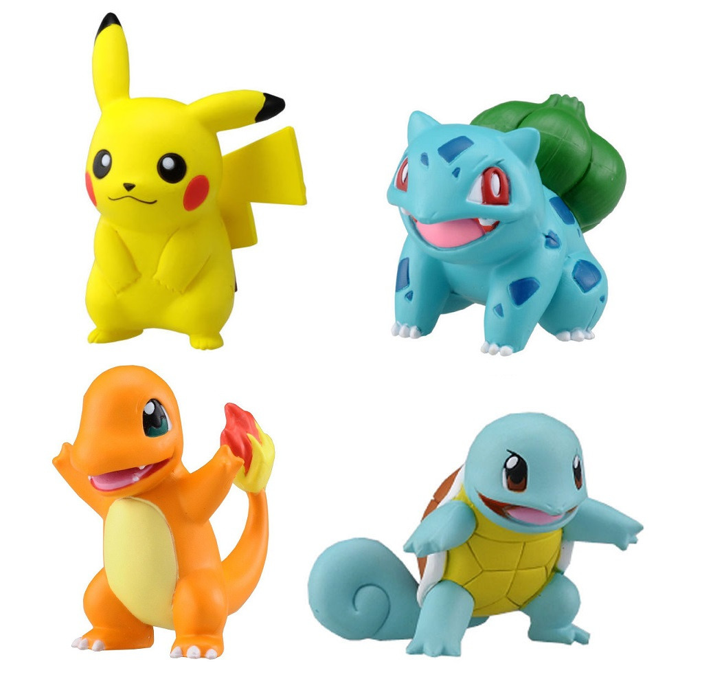 takaratomy pokemon mini figure set pikachu bulbasaur squirtle