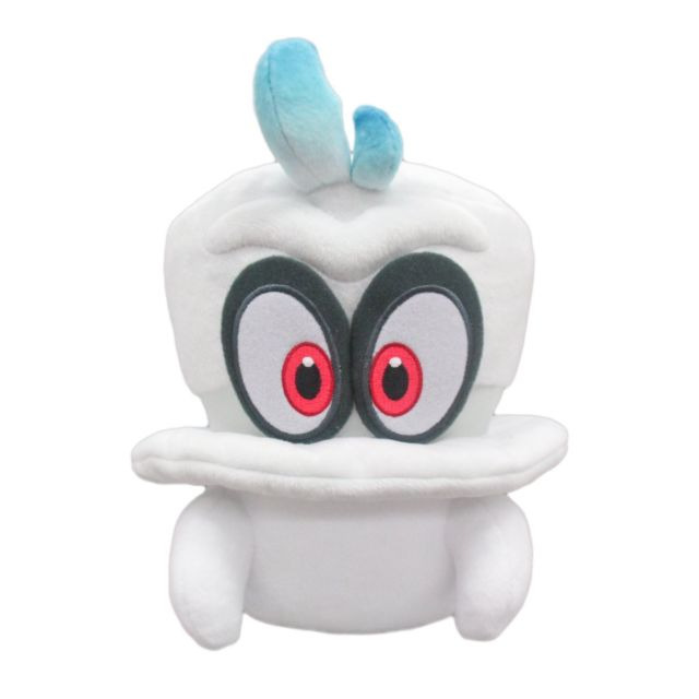d80498bdf3d Details about New Official Sanei Super Mario Odyssey Cappy (Normal Form)  White 7.5