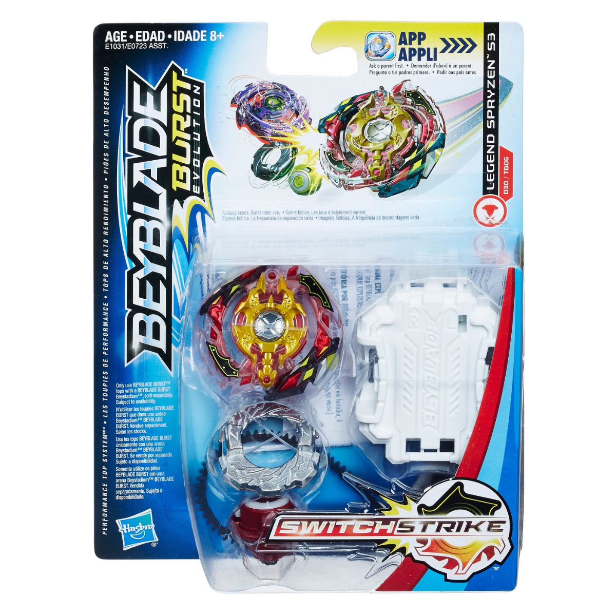 Hasbro Beyblade Burst Evolution SwitchStrike Legend Spryzen S3 ...