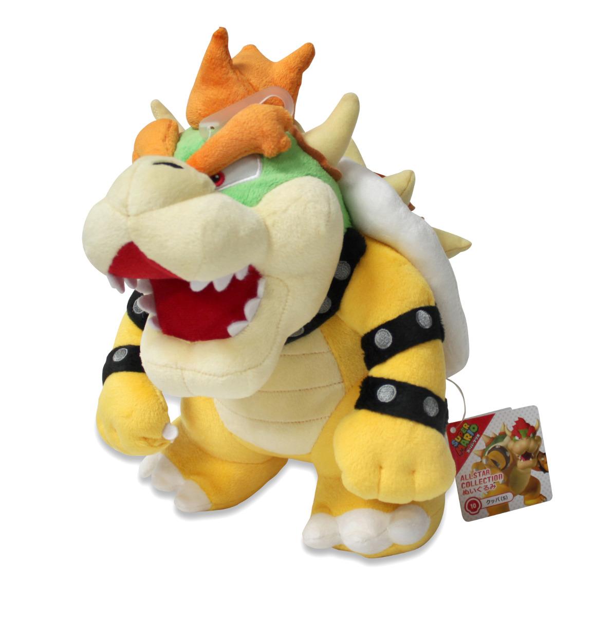 "Sanei Super Mario All Star Collection 10/"" Bowser Plush  Small"