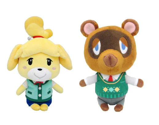 Real Tom Nook Isabelle Stuffed Plush Set Of 2 Usa Animal