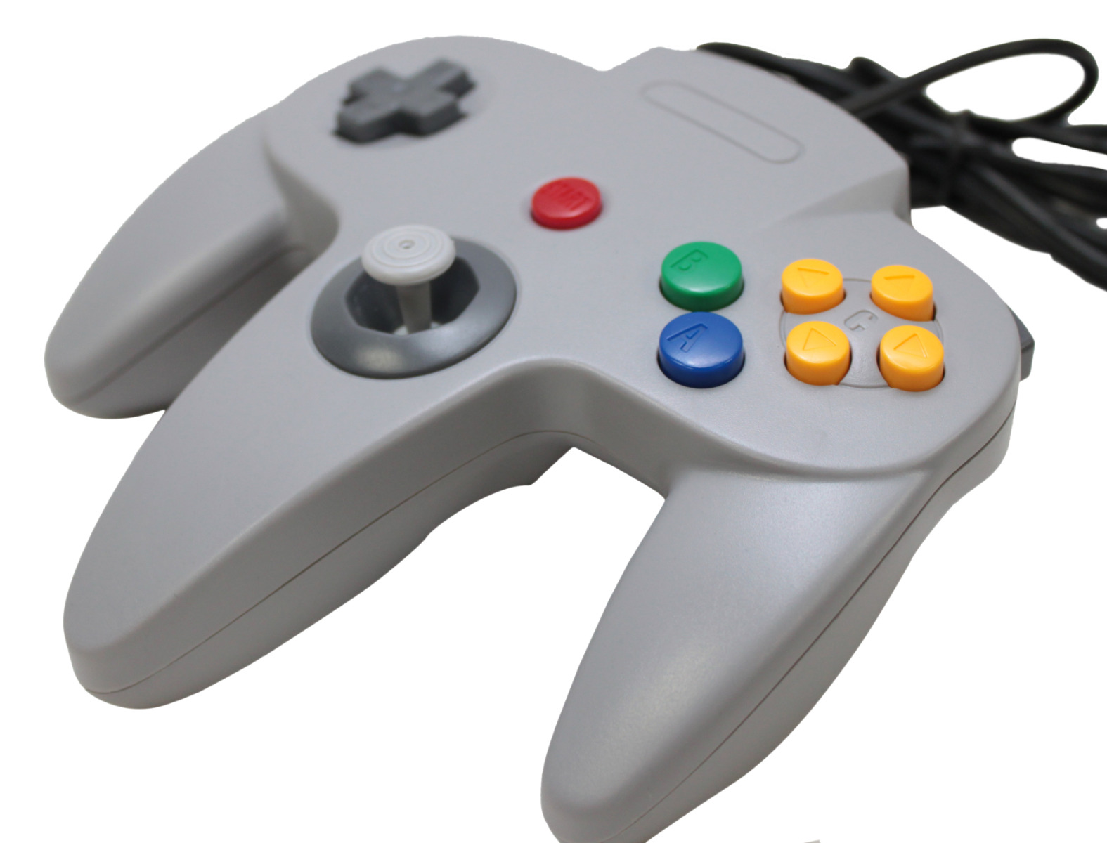 2 x NEW NINTENDO 64 N64 GREY USB CONTROLLER FOR PC WINDOWS/MAC GAMEPAD JOYSTICK