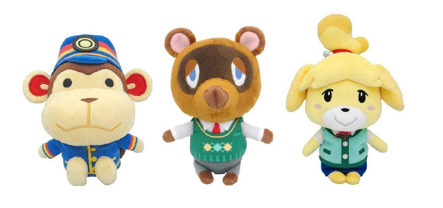 Brand New Set Of 3 Animal Crossing Stuffed Plush Porter Tom Nook