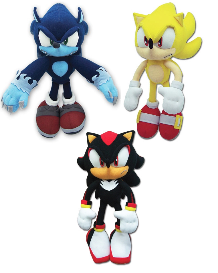 NEW Set of 3 GE Sonic the Hedgehog