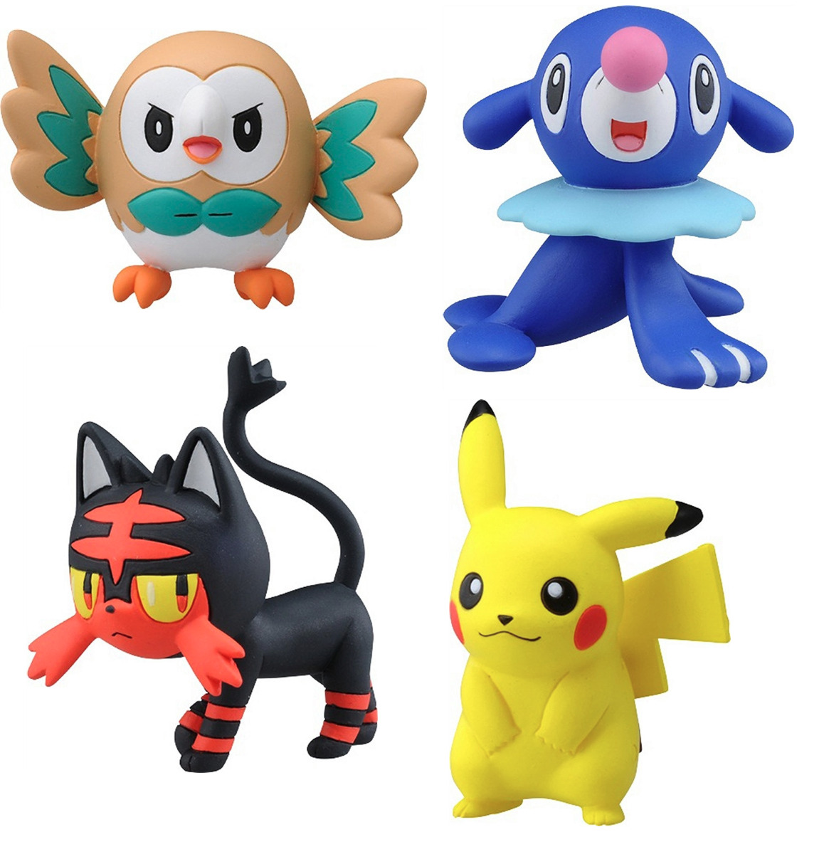 Licensed Official Set Of 4 Takaratomy Pokemon Sun Moon Figures Emc