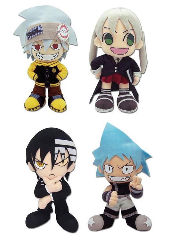 new set of 4 ge soul eater soul evans death the kid maka black
