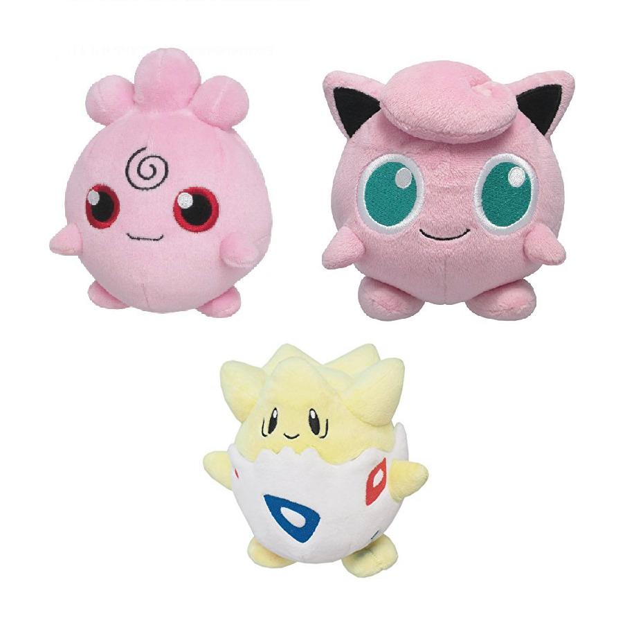 new pokemon plush toys pp02 jigglypuff pp27 igglybuff pp43 togepi