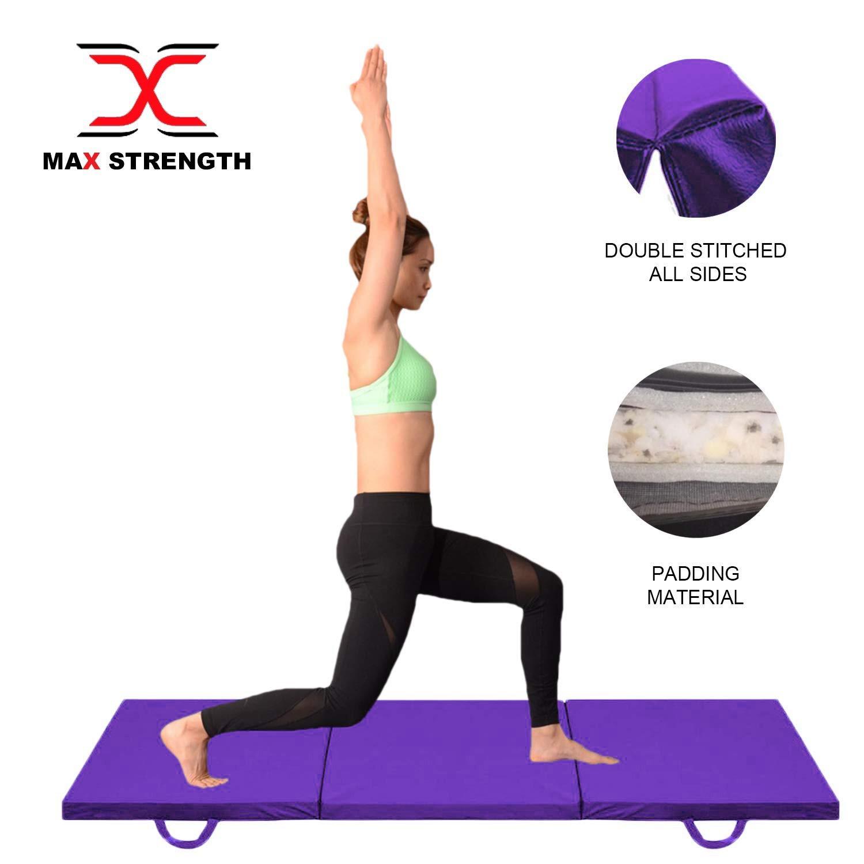 """environ 1.83 m environ 0.61 m X 2 FT Tri Pliant Mat 2/"""" Mousse épaisse Yoga Exercice Gym Fitness 6 ft multi usage"""