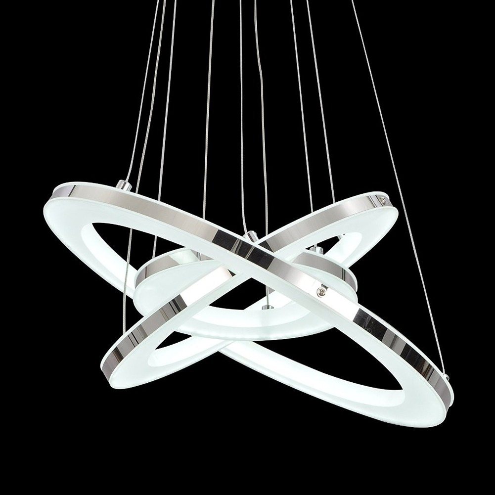 Acrylic Led Ring Chandelier Pendant Lamp Ceiling Light: Modern 3 Ring Acrylic LED Chandelier Pendant Lamps Cool