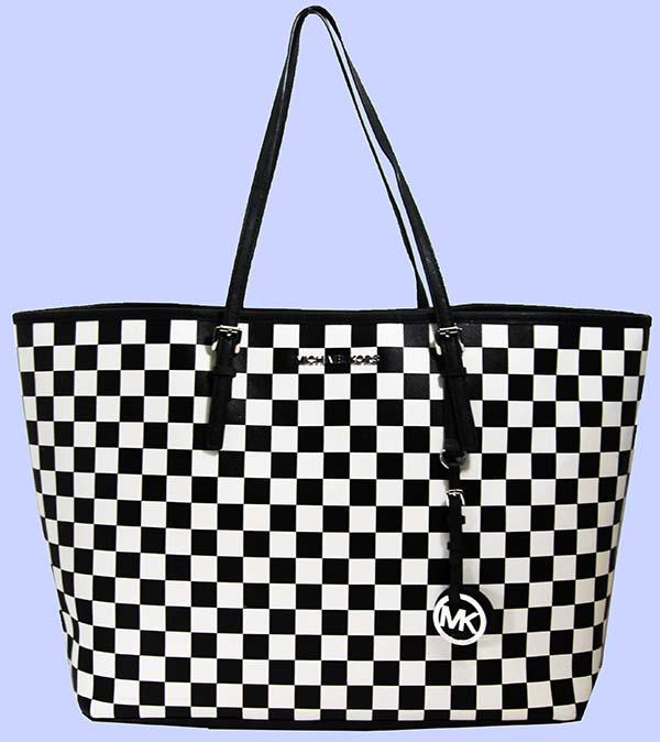 463c1fabd60a ... norway michael kors jet set travel checkerboard blackwhite saffiano  4ff3b 7e90a
