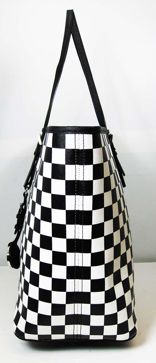 Michael Kors Jet Set Travel Checkerboard Black White