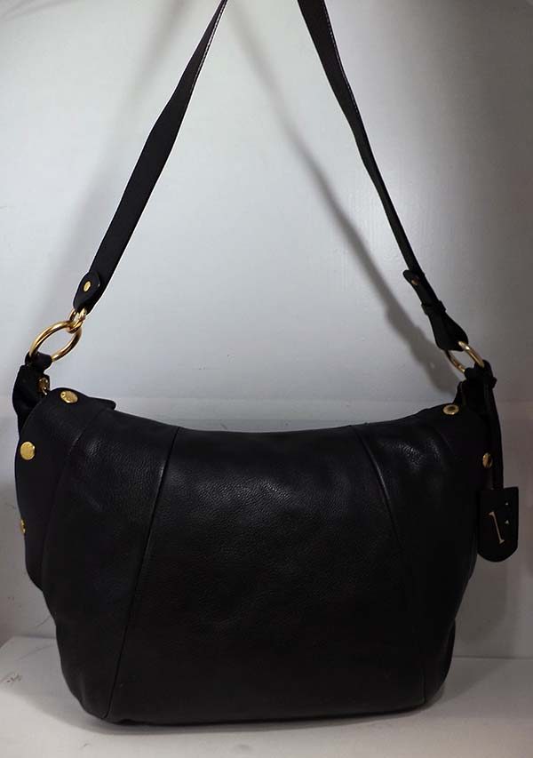 dae6912f6ae22 FURLA ELISABETH Pebbled Onyx Black Leather Shoulder Bag Msrp  598.00  8034022169430