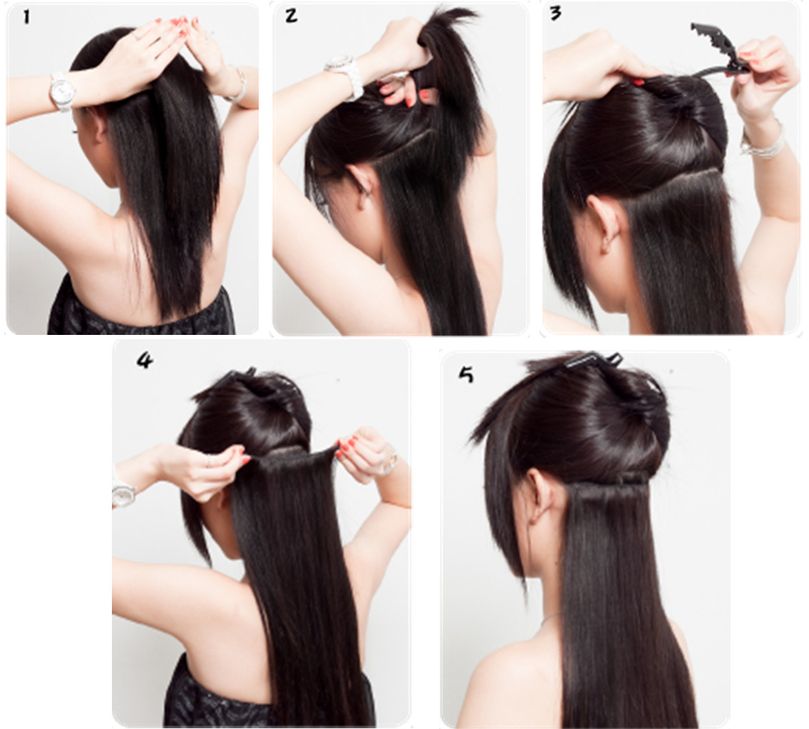 styling hair with clip in extensions 80 styles salon new hair extensions 5036
