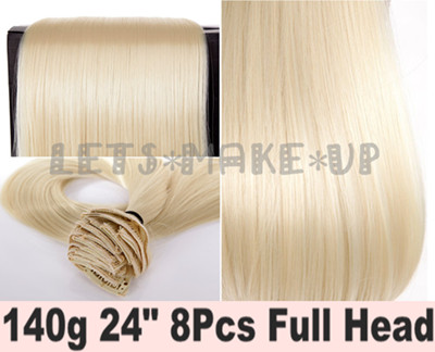 Clearance Sale 24 Quot Full Head Clip In Hair Extensions Light
