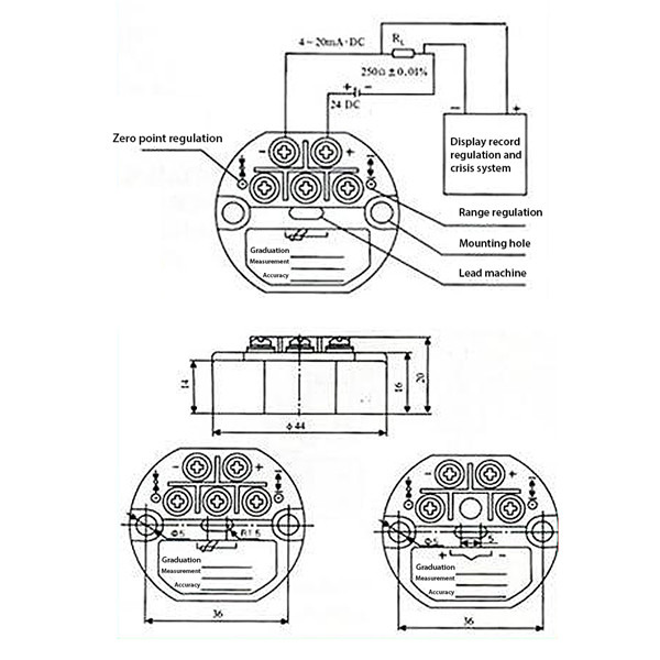 0-200℃ Temperature Sensor 4-20MA RTD PT100 SBW Transmitter Isolated Sensors